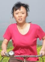 爱骑自行车的女孩