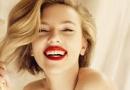 斯嘉丽·约翰逊最新美酒广告 金发红唇丰满诱惑