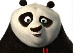 """《功夫熊猫2》中文宣传片 阿宝与你比""""瞪眼"""""""