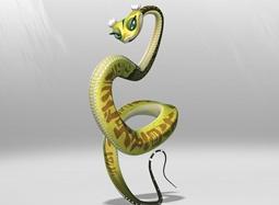 《功夫熊猫》盖世五侠-灵蛇