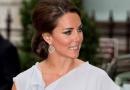 凯特王妃代表王室出席活动 女神造型优雅端庄