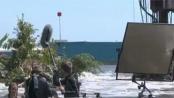 《海啸奇迹》片场直击上 震撼画面的拍摄现场
