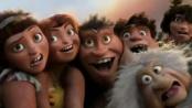 《疯狂原始人》曝光精彩片段 克鲁德一家爆笑登场