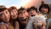 《疯狂原始人》宣传片 咕噜家族卖萌拍摄全家福