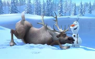 《冰雪奇缘》先导预告 顽皮驯鹿疯癫雪人相见欢