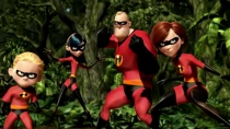 《超人总动员》经典片段 超能家族各显神通战强敌