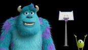 《怪兽大学》趣味宣传片 篮球高手毛怪投射大眼仔