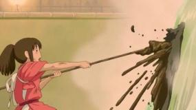 《千与千寻》经典片段 千寻全力为河神洗澡获赞赏