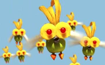 《天降美食2》宣传片 水果小鸟徐徐上升高空飞翔
