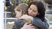 《饥饿游戏2》拍摄直击 劳伦斯赴杀场与妹妹惜别