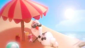 《冰雪奇缘》片段 雪人遐想置身艳阳歌颂夏天