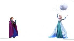 《冰雪奇缘》宣传片 姐妹亲密打雪仗欢乐对决