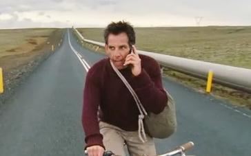 《白日梦想家》曝光片段 斯蒂勒单车横跨美国大陆