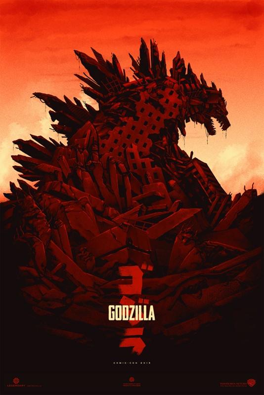1   82  Godzilla 2014 Poster Comic Con