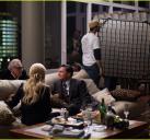 拍摄贝尔福特与新婚妻子在家里的戏份