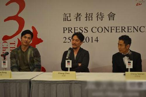 《三生》香港首映 王家卫低调现身张震言无压力