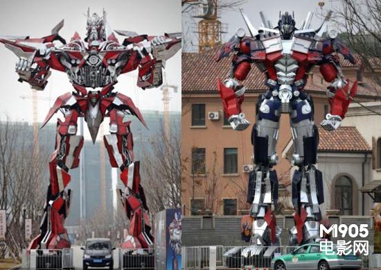 《变4》再曝新剧照 13米模型展出掀汽车人热潮