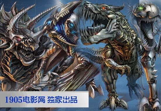 《变形金刚4》中的新角色--机器恐龙都经过进化,武器升级高清图片