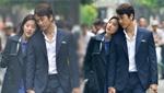 刘亦菲宋承宪情侣装街头拍戏引围观