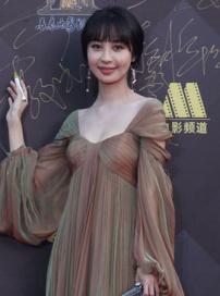 李菲儿亮相红毯微笑致意 手包精致礼服设计独特
