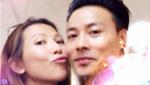 蔡少芬生日晒与老公亲吻照 张晋:同行是幸福