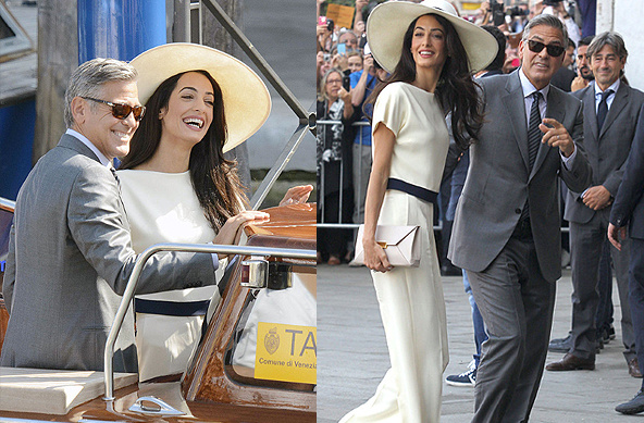 克鲁尼与妻子婚后现身 阿迈勒身材高挑不输女星
