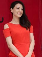 高圆圆将办婚宴红裙甜美显喜气 郑州捞金人气高