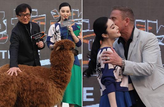 范冰冰新片激吻好莱坞男星 成龙:别伤害我家人