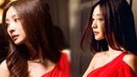 柳岩雪肤红裙拍广告 神秘冷艳亮女王范