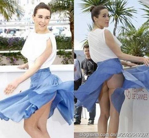 裙底被风掀翻春光乍泄的十大女星图片
