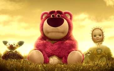 《玩具总动员3》精彩片段 草莓熊遭遗弃性情大变