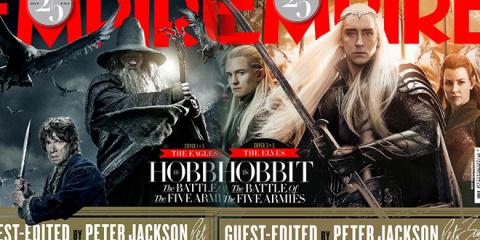 《霍比特人3》登上帝国杂志 五军大战一触即发