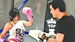 苍井空上台打泰拳 网友:动作片的好材料