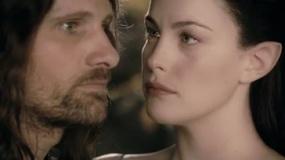《指环王2》女神片段 阿拉贡持信物想念精灵公主
