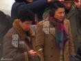 刘德华王千源拍《最强对手》 二人开心嬉戏打闹