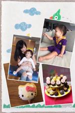 林熙蕾为小女儿庆一周岁 萌娃在妈妈怀里撒欢