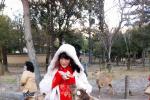 徐娇化媚娘妆着汉服日本游玩 惊艳游客争相合影