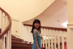 田亮女儿森蝶穿蓝色拖地裙似Elsa 被赞新晋女神