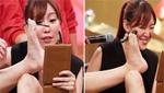 台湾女星穿热裤用脚化妆引全场爆笑