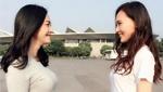 唐嫣与姚晨互相对视微笑 网友:大幂幂该吃醋了