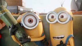 《小黄人》中文片段 小黄人搭坏蛋车前往反派大会