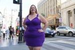 女子为当大码模特增肥158斤 臀围增长至1.6米