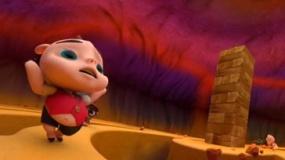 《三只小猪与神灯》片段 当当、十一郎登高摔倒
