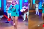 女歌手直播时卫生棉胯下飞出接着唱 获网民力挺