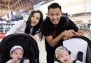 陈建州夫妇带双胞胎儿子出国 晒全家幸福合影