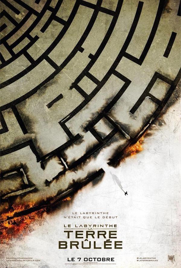 《移动迷宫2》发法国版海报 迷宫墙外烈火焚烧