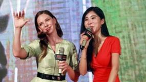 《碟中谍5》上海首映专访 弗格森飞吻示爱阿汤哥
