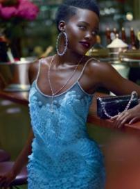 """奥斯卡最佳女配露皮塔写真 """"黑珍珠""""美艳动人"""