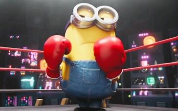 《小黄人》萌趣番外短片 小黄人竞技拳台场大乱斗
