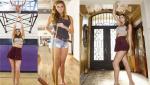 1米98嫩模腿长1米3超养眼 成美国最长腿美女